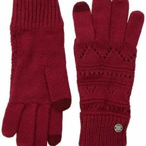 ROXY Girl Challenge Cable Knit Gloves Touchscreen